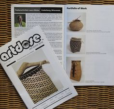 Laura Weber and her basketry featured in artdose.