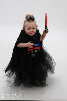 Little girl Darth! So cute!