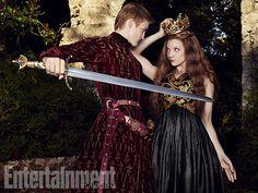 Jack Gleeson as Joffrey I Baratheon and Natalie Dormer as Margaery Tyrell