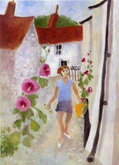 Tessa Newcomb has a beutiful flowing naive style of painting that captures the moop of her subjects with great joy. Her images make lovely greeting cards available here. British Artists, English Artists, Garden Painting, Projects To Try, Presents, Mary, Portraits, Inspire, Paintings