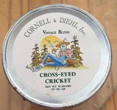 VINTAGE 1970-80s CORNELL AND DIEHL VINTAGE BLEND COLLECTIBLE TOBACCO TIN