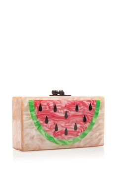 M'O Exclusive: Watermelon Acrylic Clutch by Edie Parker - Moda Operandi