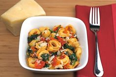 quick n easy dinner // cheese tortellini with spinach and slow roasted tomatoes