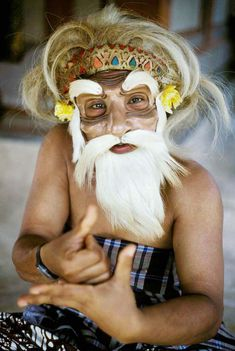 Indonesia. Bali. Ubud. Traditional mask maker
