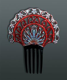 Vintage Hair Comb with Paste Stones