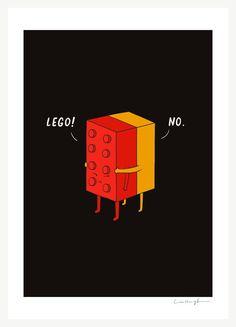 Ill never lego print