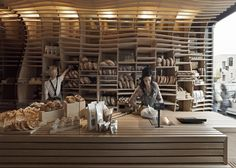Australian practice March Studio conceived this Melbourne bakery as an oversized breadbasket.