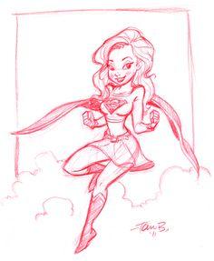 Supergirl Sketch by tombancroft.deviantart.com on @deviantART