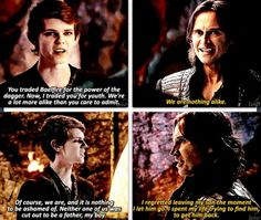 Exactly. Rumple actually tried to care for his son, while Pan didn't try very much at all.