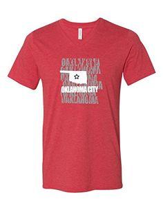 ed28117afa0 Oklahoma City Oklahoma 3005 Premium V-Neck T-shirt Slogan Humorous Tee Shirt  Heather