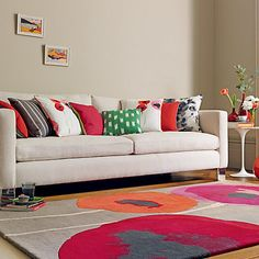 Sanderson Poppies Red/Orange 45700 hand-tufted rugs made with Wool. Available today as part of our price-match promise. Orange Rugs, Red Rugs, Vinyl Rug, Childrens Rugs, Interior Desing, Interior Ideas, Tapis Design, European Home Decor, Hand Tufted Rugs