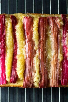 NYT Cooking: This tender poundcake has slivers of vanilla-poached rhubarb running across the top and shot through the center, adding a tangy sweetness to the buttery crumb. For the most vivid stripes, use the reddest rhubarb stalks you can find. They will fade to hot pink after poaching and baking. Green rhubarb also works; the cake won't be quite as striking, but it will be equally delectable. This cake is...