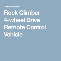 Rock Climber 4-wheel Drive Remote Control Vehicle