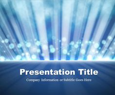 Free Lights with Rays PowerPoint template is a free PPT template and free blue PowerPoint background that you can download to decorate your presentations