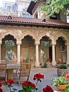 Stavropoleos Monastery in central Bucharest, Romania ✯ ωнιмѕу ѕαη∂у Art And Architecture, Architecture Details, Places Around The World, Around The Worlds, Little Paris, Bucharest Romania, Moroccan Design, Eastern Europe, Cathedral
