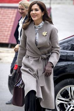That jacket is gorgeous and I love the leaf pin and the blouse too!!
