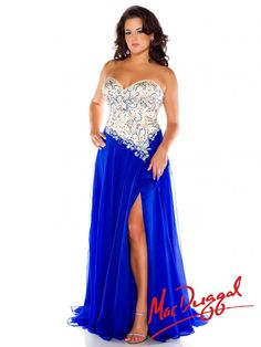 0e30cdd7710 Mac Duggal - Royal Beaded Strapless Plus Size Prom Dresses Online