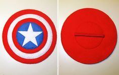 Captain America Mask Shield set  Superhero costume by FeltFamily