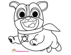 Puppy Dog Pals Rolly Printable Christmas Coloring Page ...
