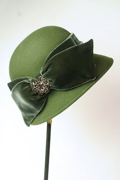 Loden Brooch Cloche - Timeless winter millinery will shade those expressive eyes against the snow's glare while keeping your pretty head warm. Arrives in a keepsake hatbox.