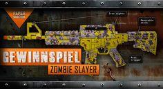Wir haben mal wieder ein neues Spiezeug bekommen und das wollen wir mit Euch teilen! Genauer gesagt mit einem von Euch, denn wir werden eines verlosen! +++ Es ist also mal wieder Zeit für ein #Gewinnspiel +++ Es handelt sich dabei um die #Paper #Shooters in der #Zombie #Slayer Edition! Weitere Informationen erhaltet ihr auf unserer Facebook-Seite!