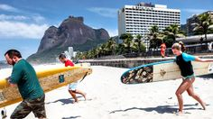 Rio de Janerio- grab your surfboards and head for the waves in Sao Conrado!