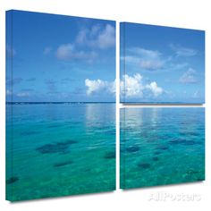 Lagoon and Reef Gallery-Wrapped Canvas Stretched Canvas Print by George Zucconi at AllPosters.com