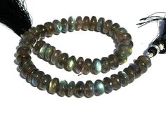 10 Inches / 53Pieces Natural Blue Flashy by RareGemsNJewels, $50.00