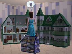 Mod The Sims - Tiny Treasures Doll House don't know that I'll use it but it's sooo cute and such a clever idea!