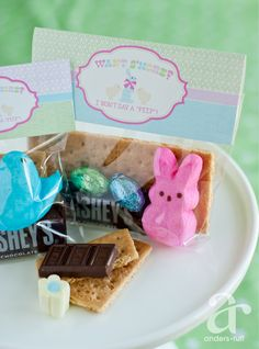 Easter peeps s'mores