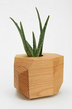 Geometric Wooden Planter $60 (really, Urban Outfitters?)