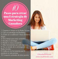10 Pasos para crear una Estrategia de Marketing Ganadora - @AnabellHilarski