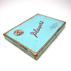 Vintage Players Tin England Cigarette Box Storage • Hens Feathers