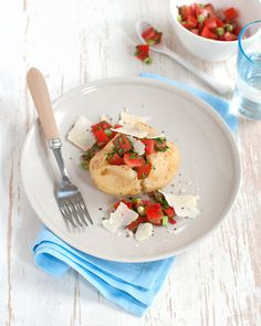 Jacket Potato with Tomato & Coriander Salsa