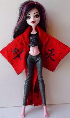 Red Black Kimono/Yukata Painted Kanji Print by CuteWeirdFluffy, $14.99