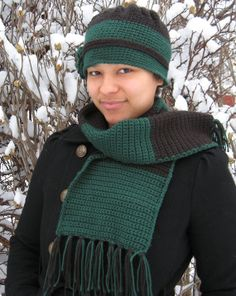 Flower hat with matching scarf. by reneeoriginals1 on Etsy, $30.00