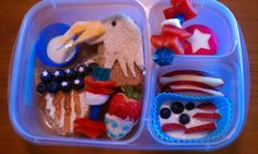 4th of July bento by Palmer, a non-blogging bento buddy :)