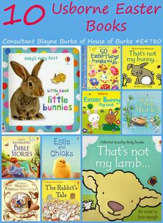 10 Usborne Books for Easter -   Get them here!: www.agardeninthepocket.com :)  Like my facebook page for more book related tips, promotions, events and fun! www.facebook.com/agardeninthepocket