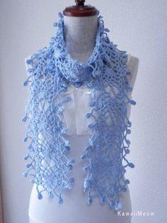 Best 12 Crochet Triangle Scarf Shawl Wrap with Flower Brooch Crochet Flower Scarf, Lace Scarf, Crochet Scarves, Crochet Shawl, Crochet Clothes, Crochet Lace, Crochet Designs, Crochet Patterns, Crochet Collar Pattern