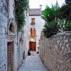 A street in Hvar, Dalmatia, Croatia Dalmatia Croatia, Adriatic Sea, Coast, Street, Roads