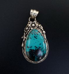 One of a Kind Handmade Sterling Silver and Azurite by fishsilver, $115.00