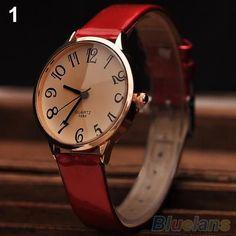 2015 New Stylish Designed Women s Faux Leather Strap Big Digit Analog Dress  Wrist Watch 5EQP Fashion d275e380deeea