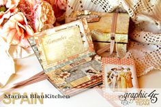 Box and Mini Album A Ladies Diary Tutorial by Marina Blaukitchen Product by Graphic 45 photo 9