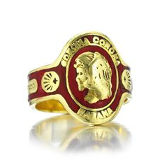 Cartier  An Enamel and Gold Cuban Cigar Band Ring,  circa 1970