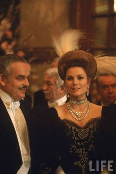 Prince Rainier and his wife Princess Grace appearing at the annual Grand Ball.  Location:Monte Carlo, Monaco  Date taken:1968  Photographer:Bill Ray