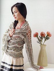Ravelry: Feather and Fan Cardi Wrap pattern by Jennifer Hansen Hairpin Lace Crochet, Freeform Crochet, Tunisian Crochet, Knit Crochet, Crochet Hats, Crochet World, Crochet Books, Wrap Pattern, Lace Outfit