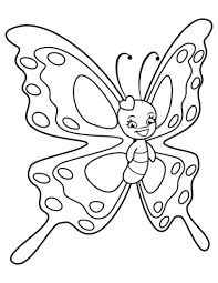 Cute Butterfly with Sweet Smile coloring page from Butterfly category. Select from 32014 printable crafts of cartoons, nature, animals, Bible and many more. Cute Coloring Pages, Free Printable Coloring Pages, Free Coloring, Coloring Books, Colouring Sheets, Butterfly Coloring Page, Butterfly Drawing, Cute Butterfly, Printable Pictures
