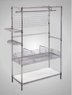 Chrome Wire Shelves | 12 Best Organizing Accessories For Chrome Wire Shelving Images