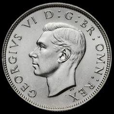 1939 George VI Silver Two Shilling Coin / Florin, BU