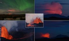 Incredible footage of Iceland's volcano and Northern Lights #DailyMail
